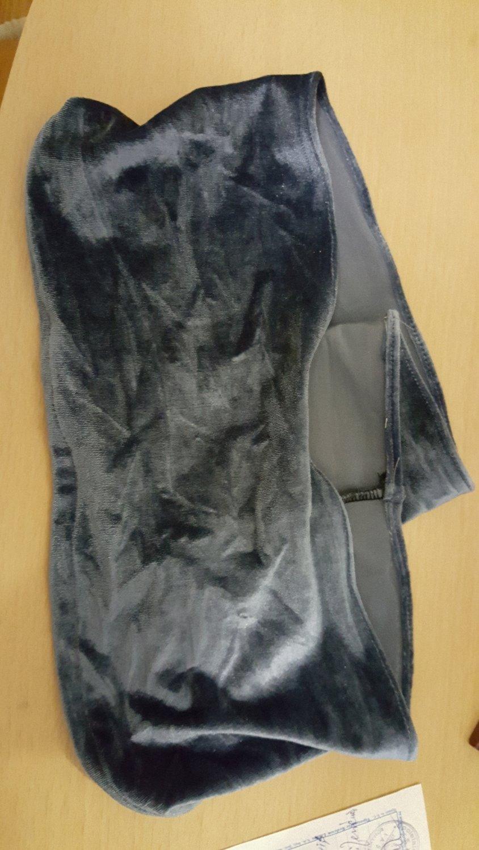 Banda elastica catifea gri inchis