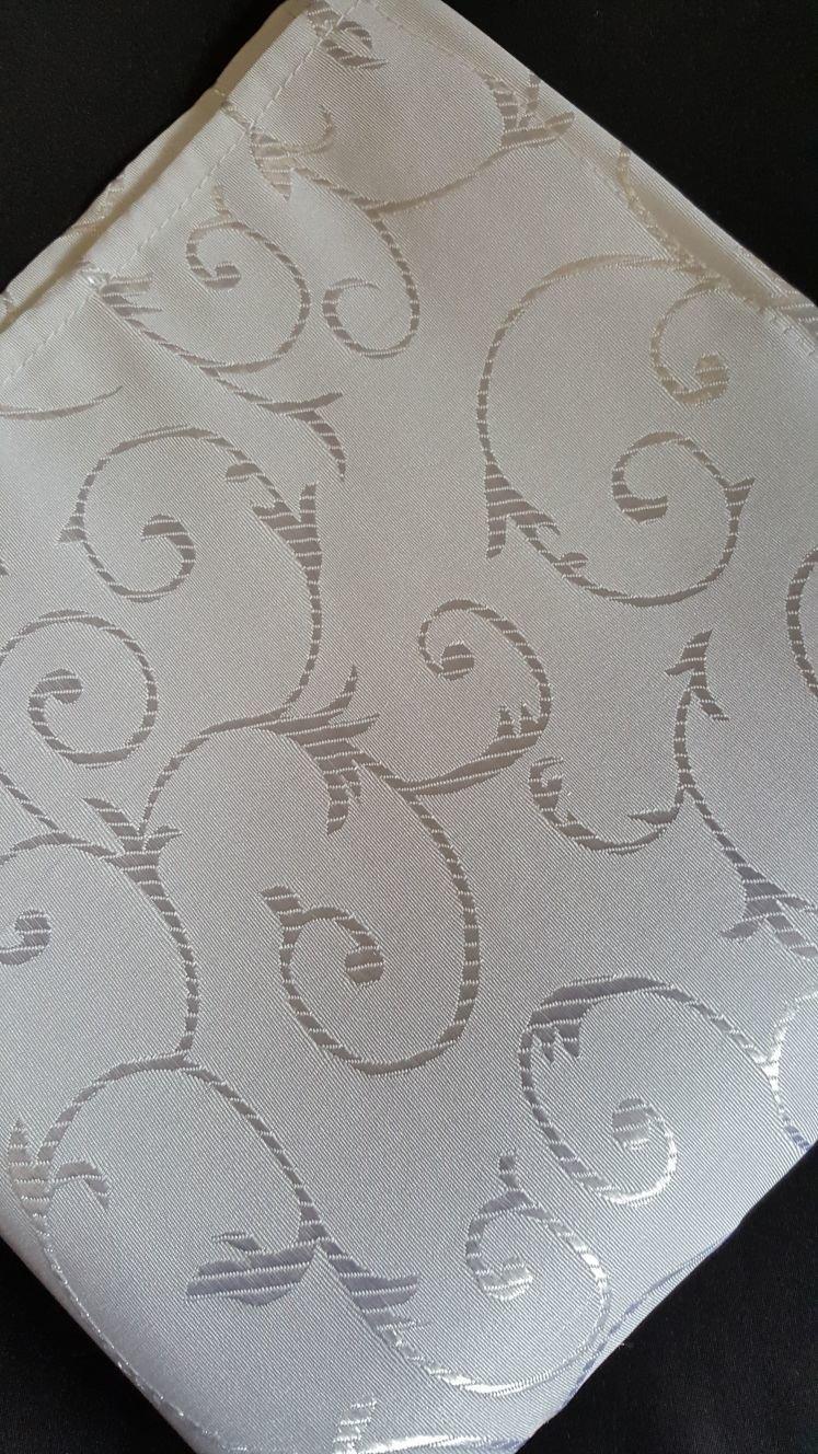 Servet brocart ivory cerculete, 35x35 cm