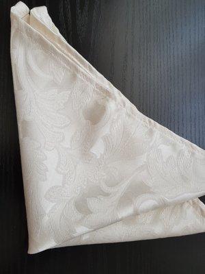 Servet brocart sara ivory crem 30x30  cm