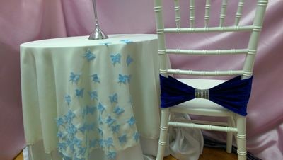 Capac masa cu aplicatii textile
