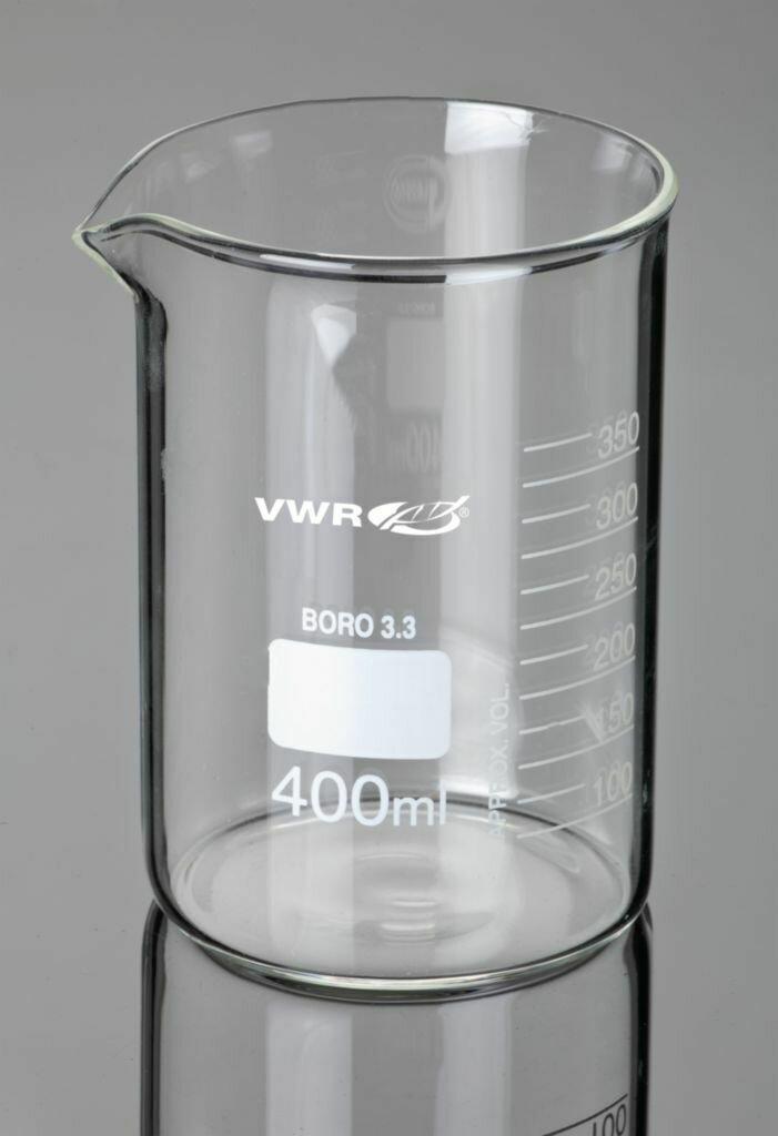 BEAKER LOW FORM 25ml W/SPOUT GLASS