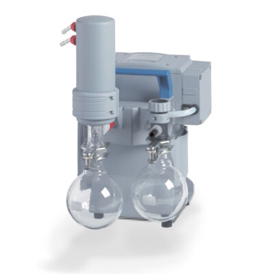 VACUBRAND MZ 2C NT pump with pump protection and vapor capture components