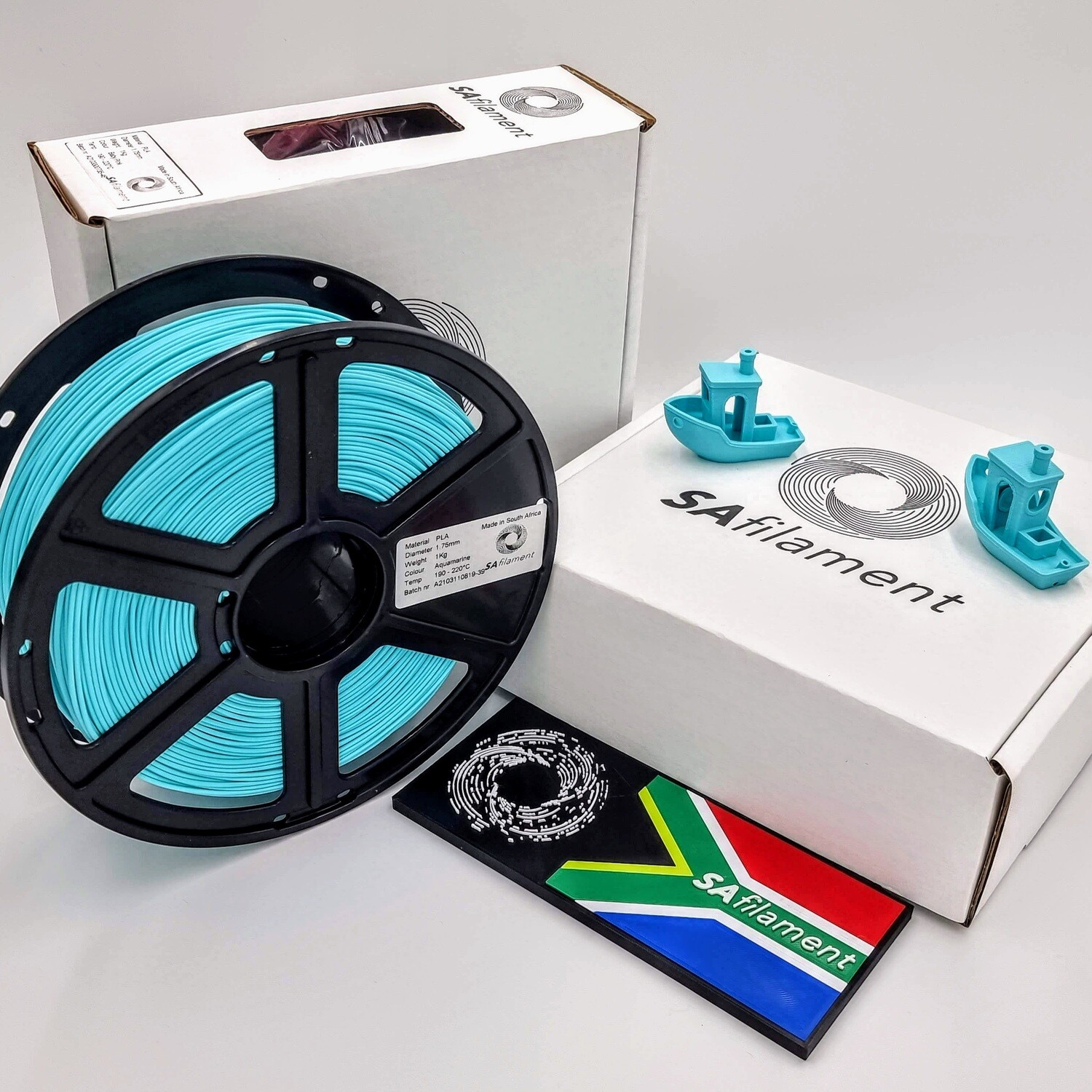 Aquamarine PLA Filament, 1Kg, 1.75mm by SA Filament