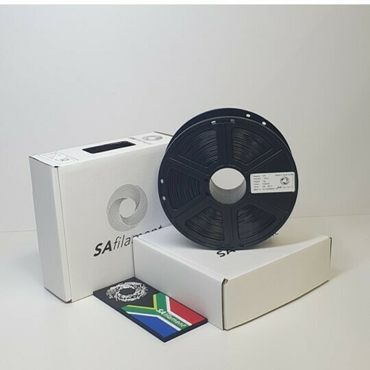 Charcoal PetG Filament, 1Kg, 1.75mm by SA Filament