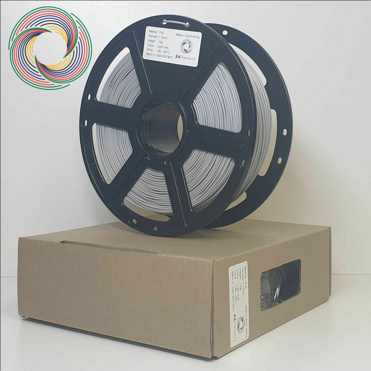 Light Grey PLA Filament, 1Kg, 1.75mm by SA Filament