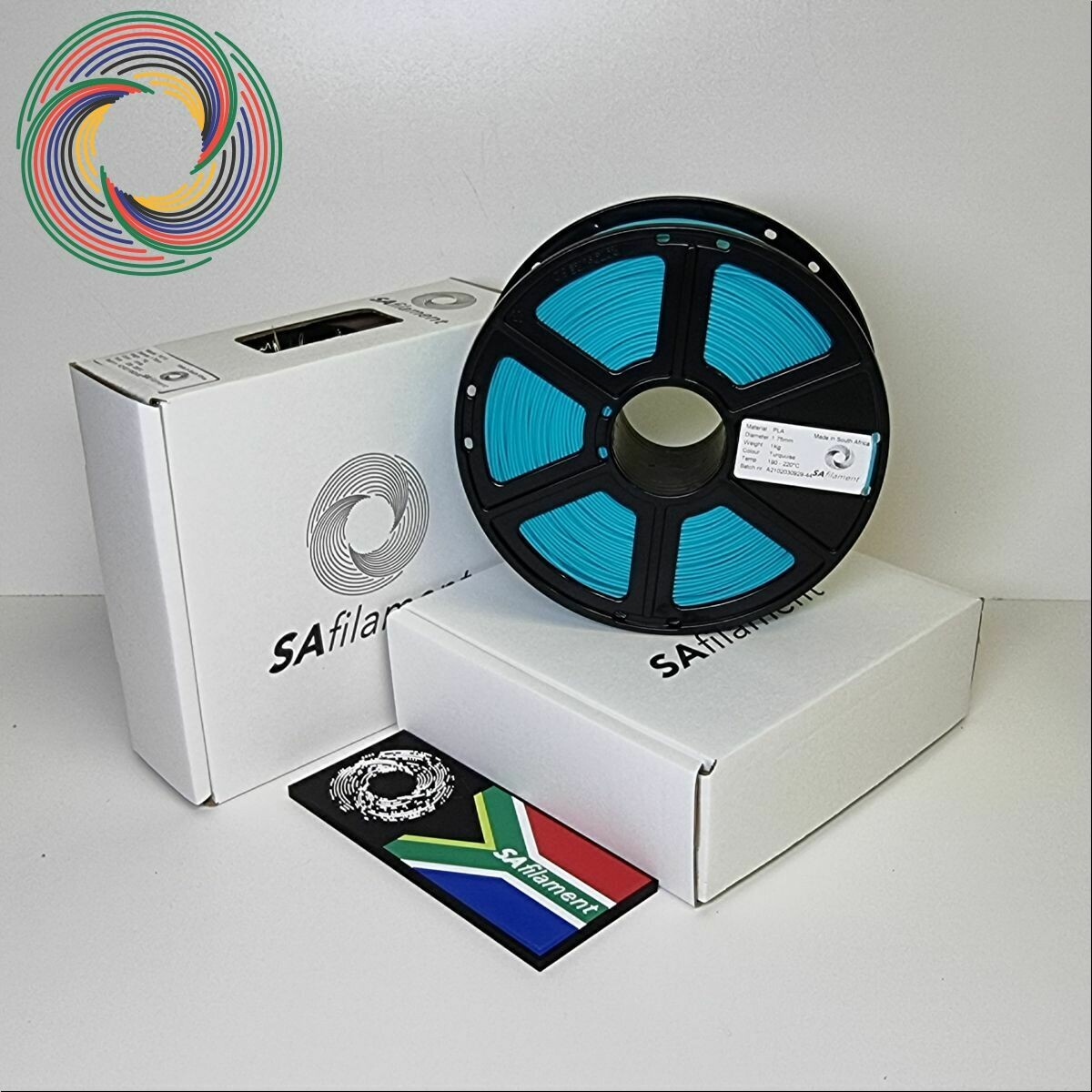 Turquoise PLA Filament, 1Kg, 1.75mm by SA Filament