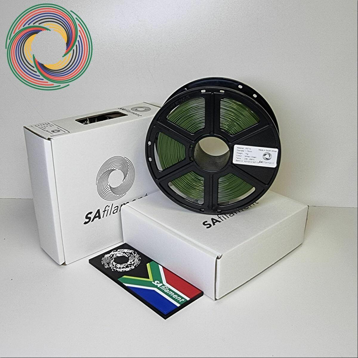 Military Green PetG Filament, 1Kg, 1.75mm by SA Filament