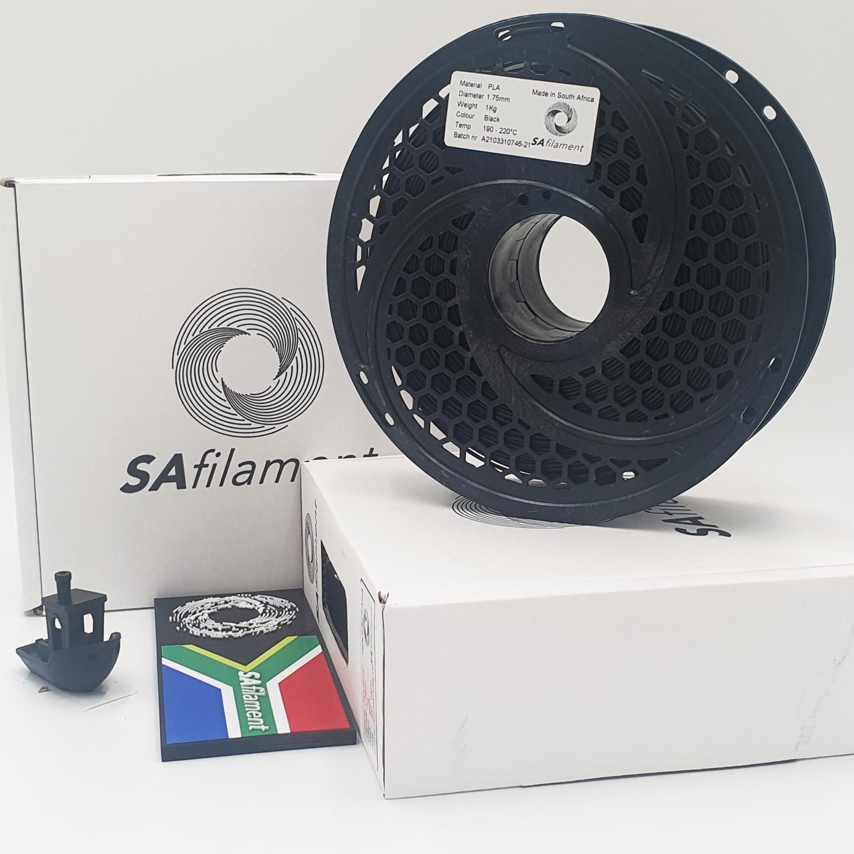 Black PLA Filament, 1Kg, 1.75mm by SA Filament