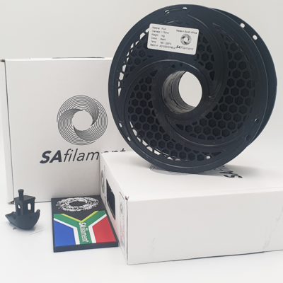 Black PLA Filament, 1Kg, 1.75mm by SA Filament