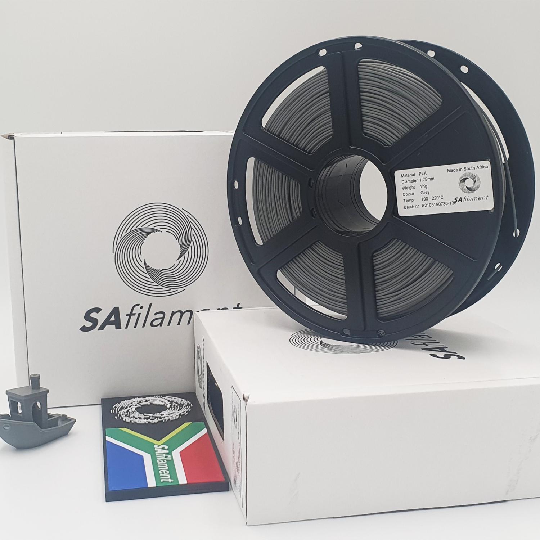 Grey PLA Filament, 1Kg, 1.75mm by SA Filament