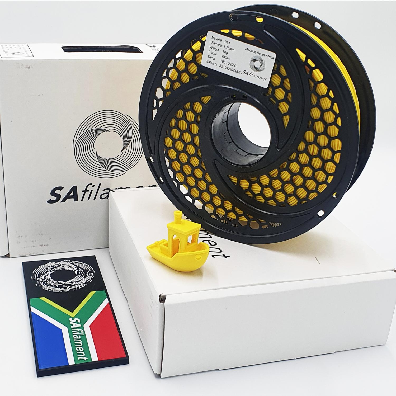 Yellow PLA Filament, 1Kg, 1.75mm by SA Filament