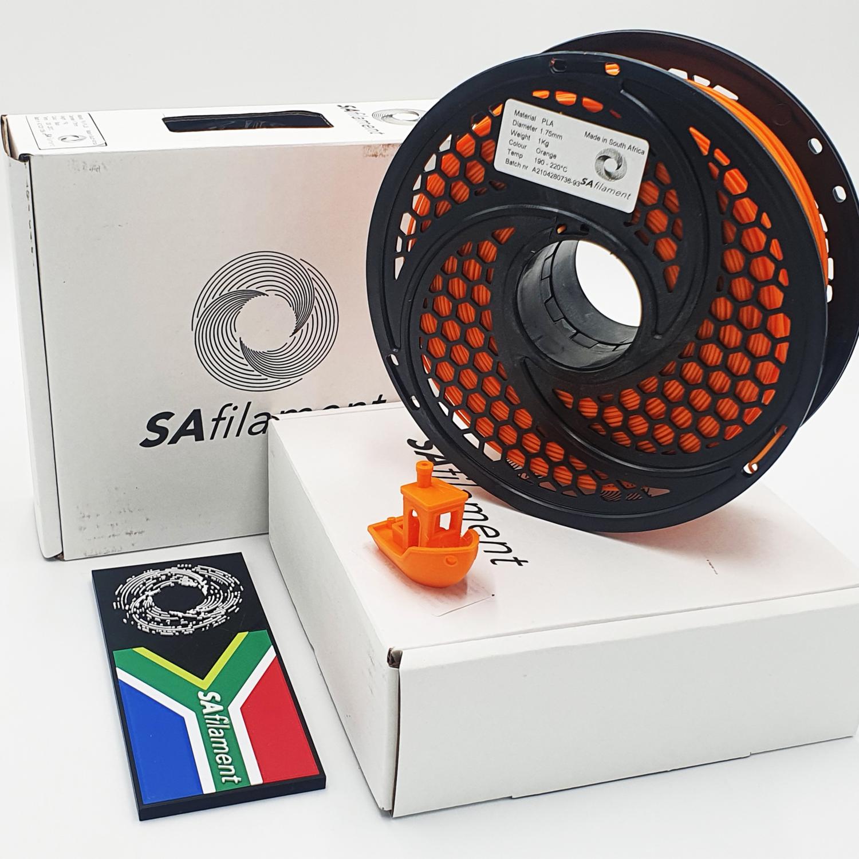 Orange PLA Filament, 1Kg, 1.75mm by SA Filament