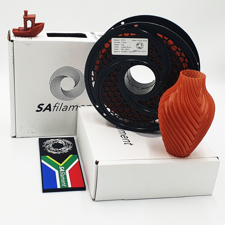 Copper Brown  PetG Filament, 1Kg, 1.75mm by SA Filament