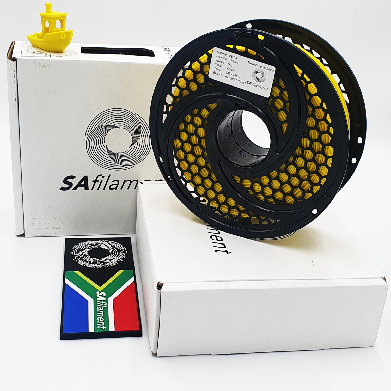 Yellow  PetG Filament, 1Kg, 1.75mm by SA Filament