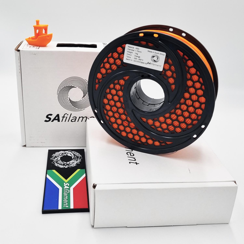 Orange ABS Filament, 1Kg, 1.75mm by SA Filament