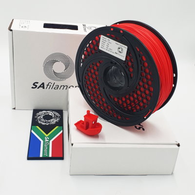 Red ABS Filament, 1Kg, 1.75mm by SA Filament