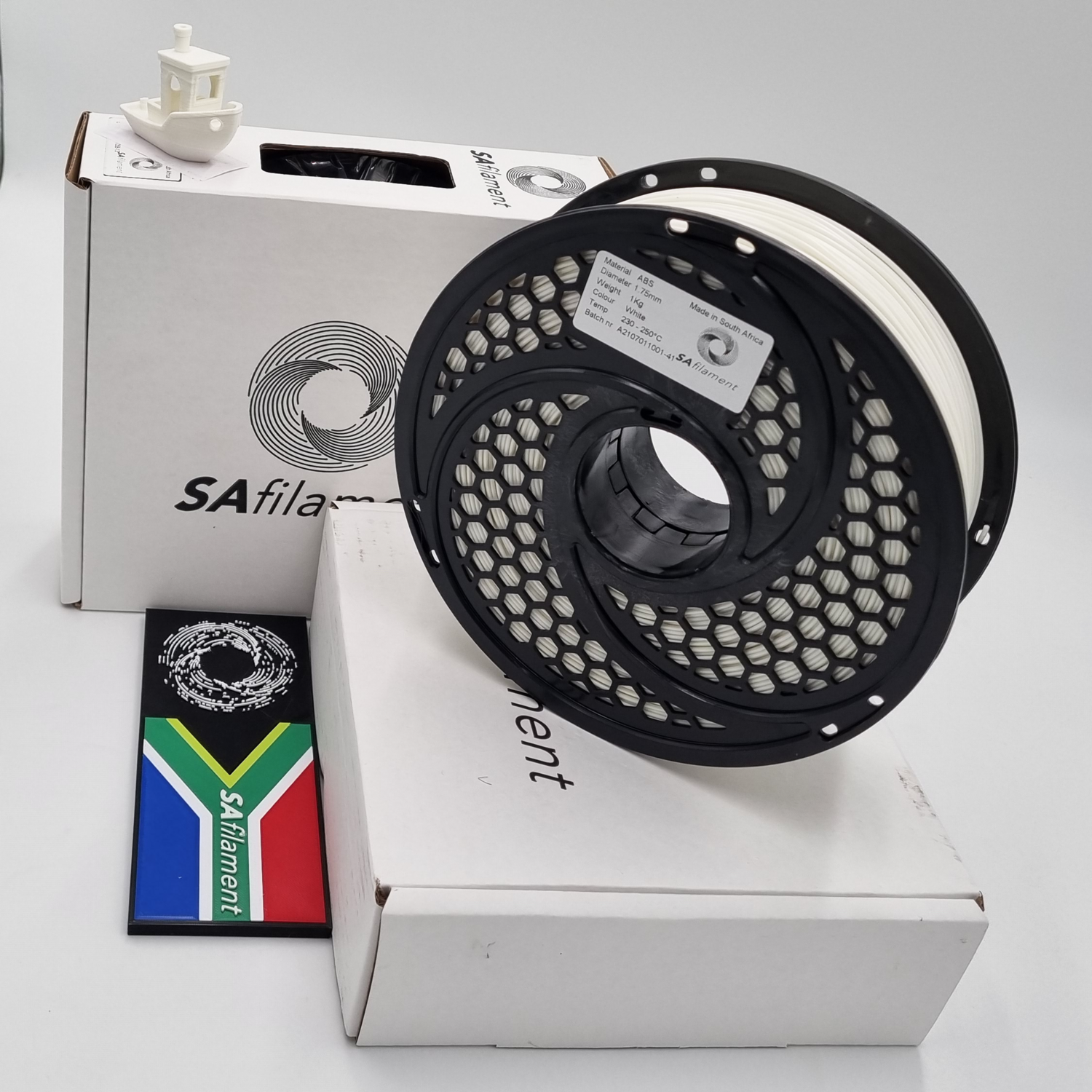 White ABS Filament, 1Kg, 1.75mm by SA Filament