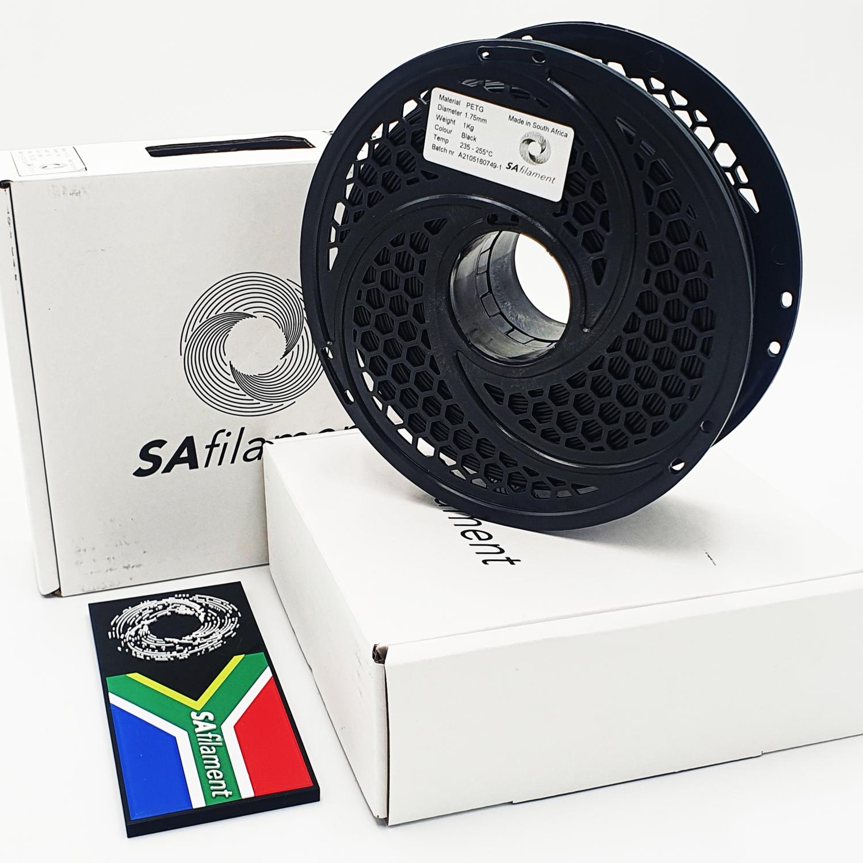 Black PetG Filament, 1Kg, 1.75mm by SA Filament