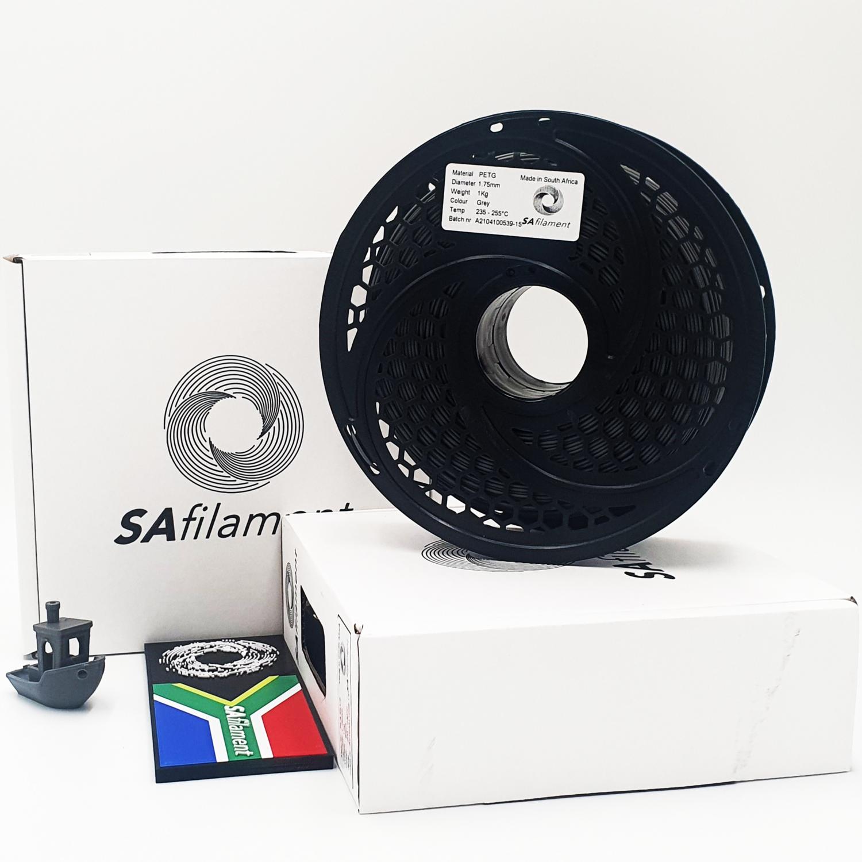 Grey PetG Filament, 1Kg, 1.75mm by SA Filament