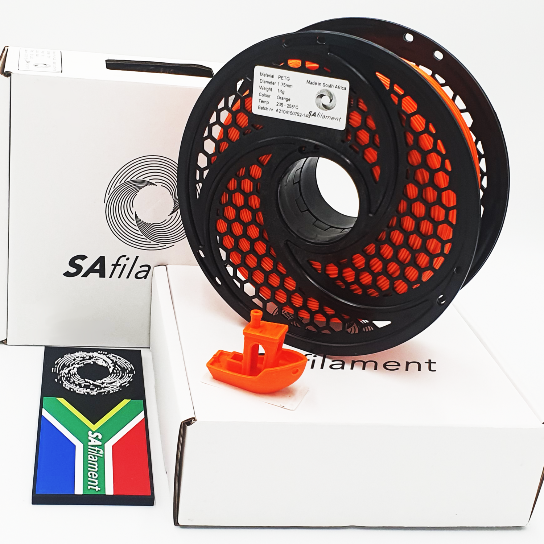Orange PetG Filament, 1Kg, 1.75mm by SA Filament