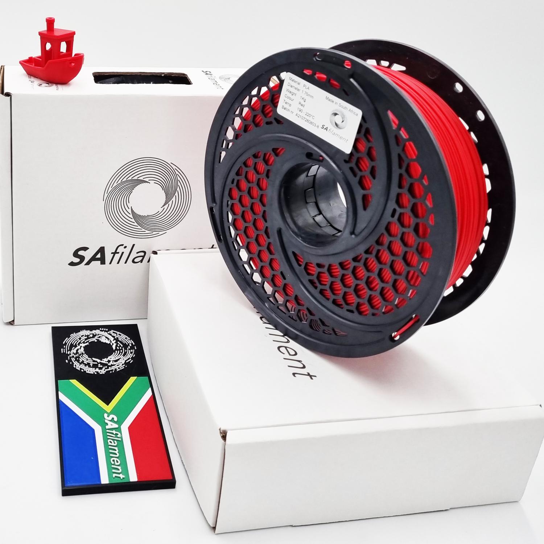 Red PLA Filament, 1Kg, 1.75mm by SA Filament