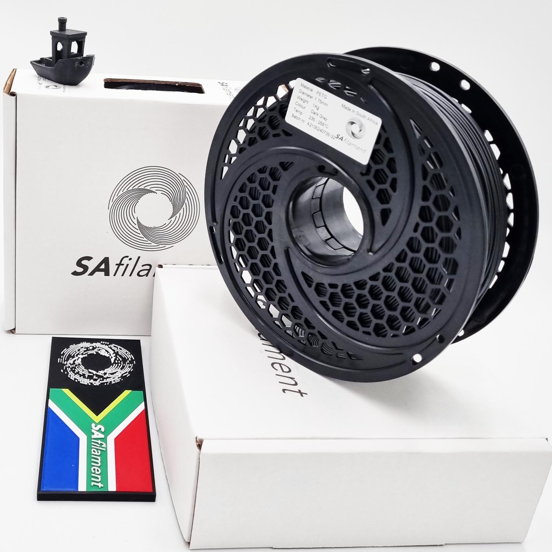 Dark Grey PetG Filament, 1Kg, 1.75mm by SA Filament
