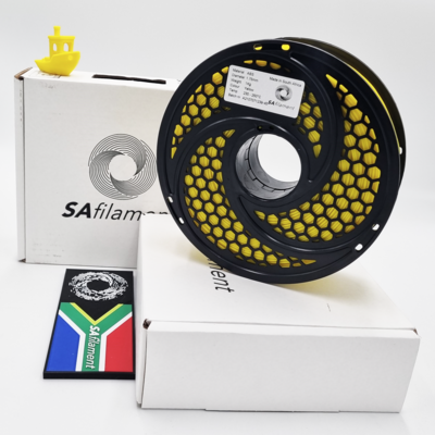 Yellow ABS Filament, 1Kg, 1.75mm by SA Filament