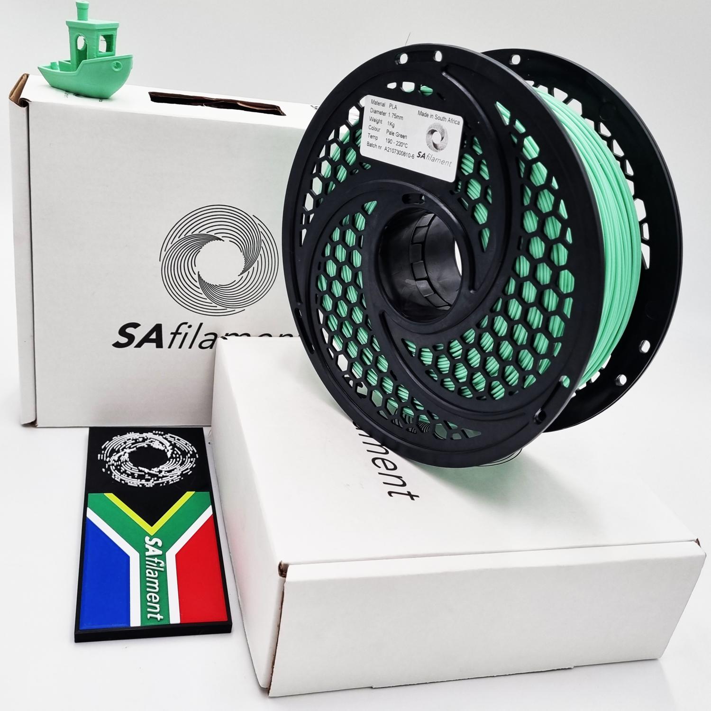 Pale Green PLA Filament, 1Kg, 1.75mm by SA Filament