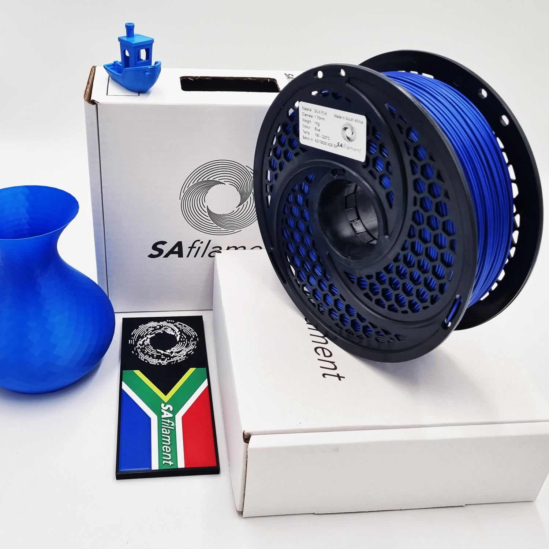 Blue Silk PLA Filament, 1Kg, 1.75mm by SA Filament