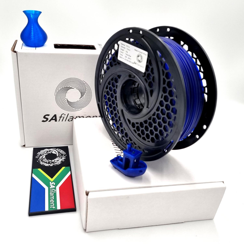 Translucent Blue PetG Filament, 1Kg, 1.75mm by SA Filament