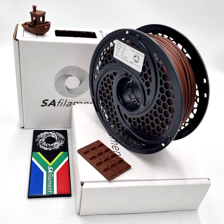 Brown PetG Filament, 1Kg, 1.75mm by SA Filament