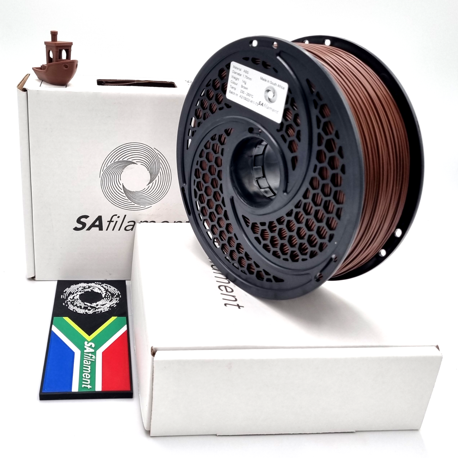 Brown ABS Filament, 1Kg, 1.75mm by SA Filament