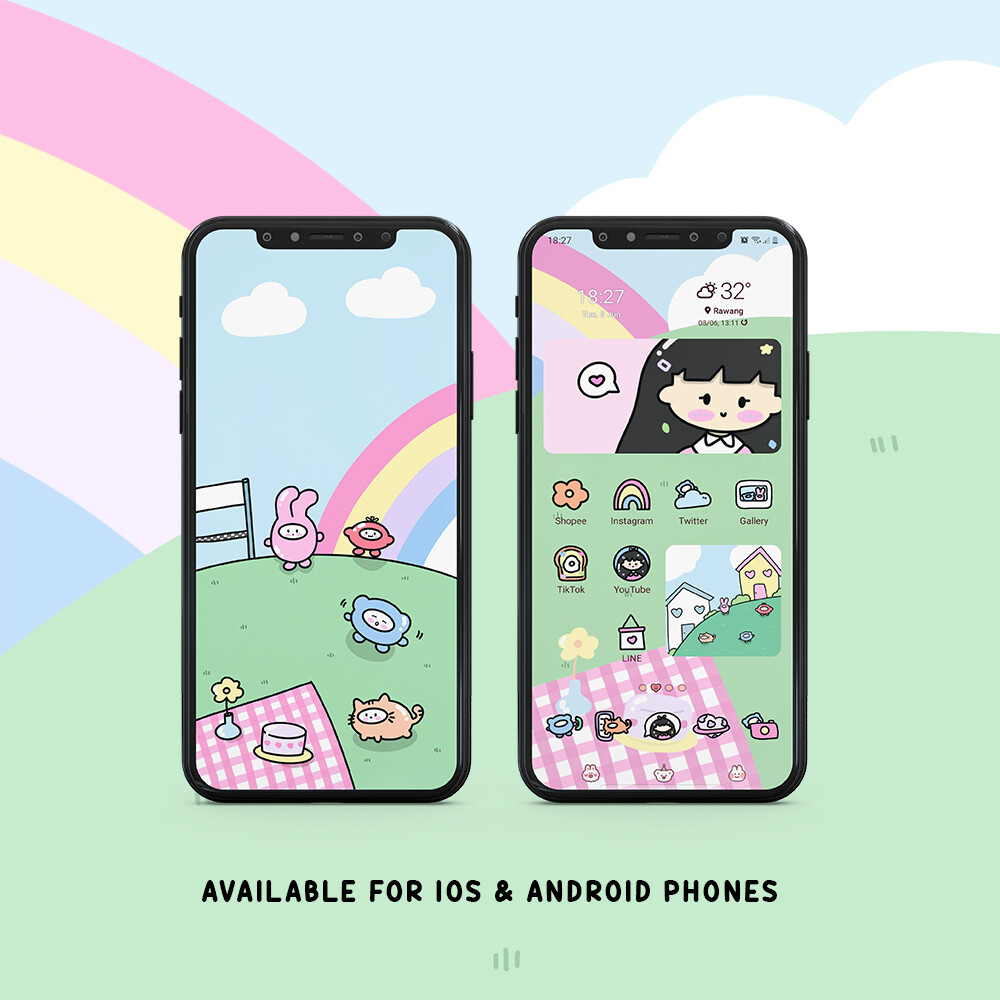 ANDROID THEME | RAINBOW PLAYTIME
