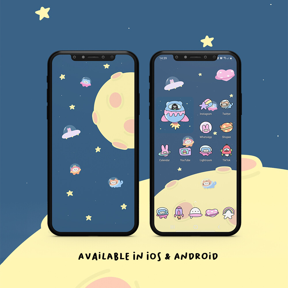 ANDROID THEME | TAKE ME TO THE MOON