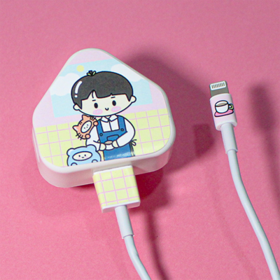 Apple Charger Sticker