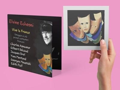 Bundle Postcard + CD Vive la France