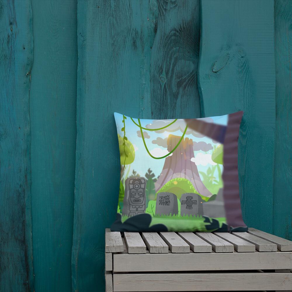 Monster Reach Tribe - Premium Pillow