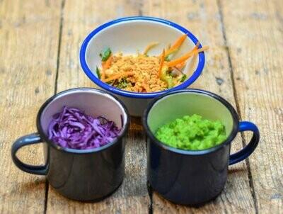 All three veggie sides