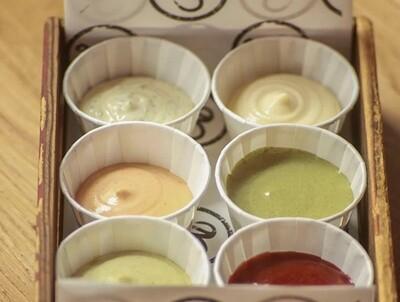 Mix of 6 sauces