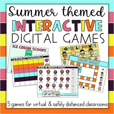 End of the Year Summer May June Interactive Games ANY subject Google Slides PPT