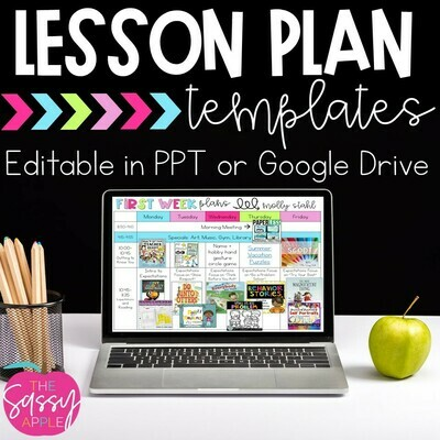 Digital Editable Weekly Lesson Plans 30+ templates in PowerPoint Google Slides
