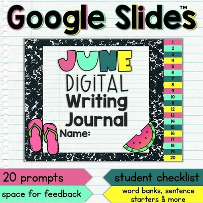 June Digital Writing Journal for Google Slides