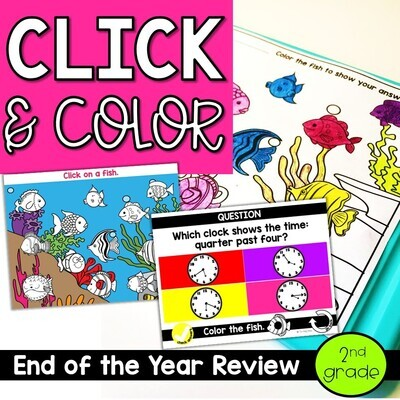 End of the Year Review for 2nd grade Questions Coloring Sheet Response
