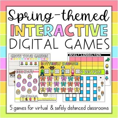 Spring April May Interactive Digital Games ANY subject Google Slides PPT