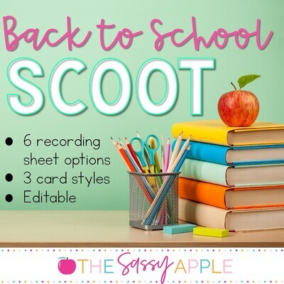 Back to School Scoot: A Getting to Know You Activity Back to School