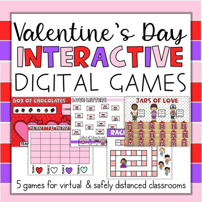 Valentine's Day Interactive Digital Games In Person or Virtual for ANY subject