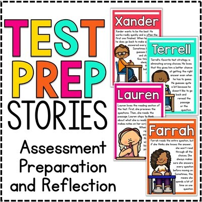Test Prep & Test Taking Strategies and Study Skills Social Stories w/ reflection