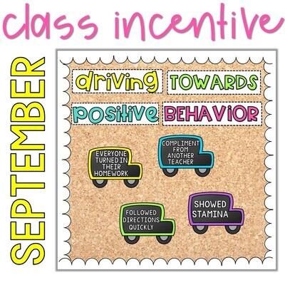 Classroom Behavior Management Positive Incentive Tracker *Editable* September
