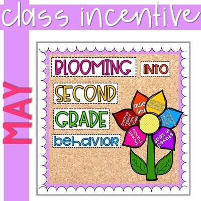 Classroom Management Positive Behavior Incentive Tracker Rewards*Editable* May