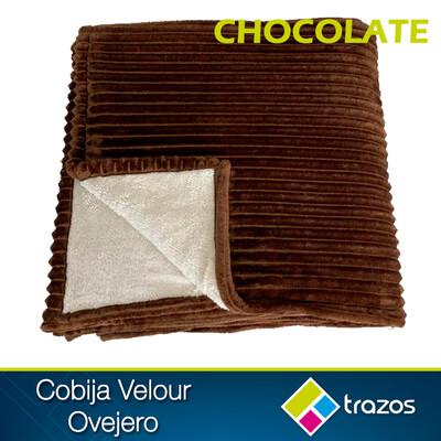 Cobija Velour ovejero Chocolate